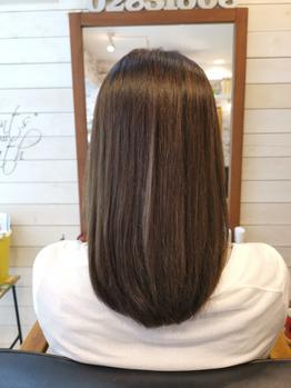 改善途中の髪
