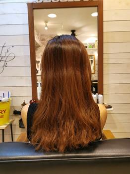 ダメージの強い髪
