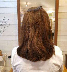 初回、8月下旬頃の髪