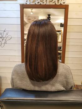 3回目10月下旬頃の髪
