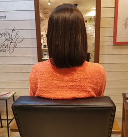 毛髪改善カラーと毛髪改善トリートメントだけ