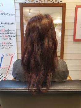 うねった髪毛